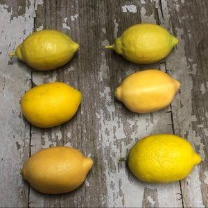 Lemon Decor Fake Artificial Lot of 6